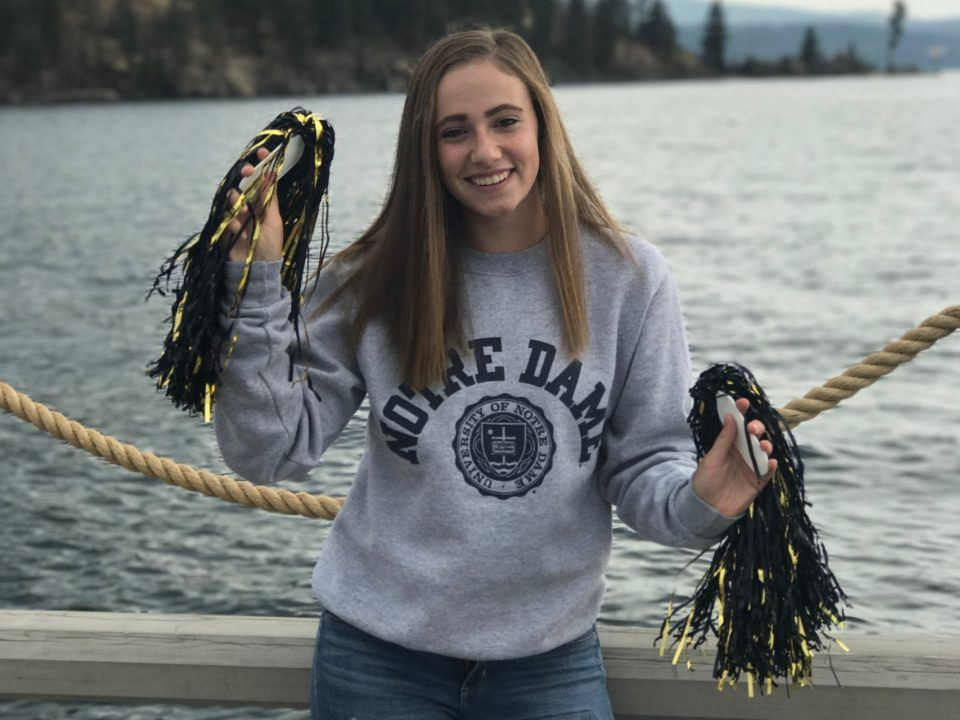 1:01/2:13 Breaststroker Sarah Nicholls Verbally Commits to Fighting Irish