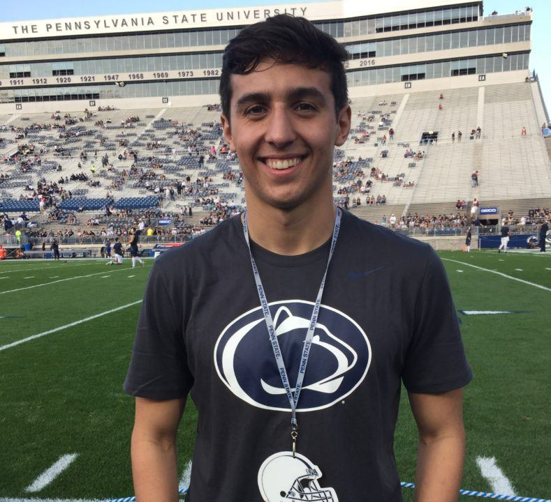 SwimMAC's Teddy Perelli Hands Verbal Commitment to Penn State Nittany Lions