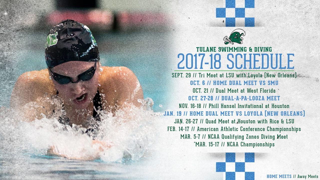 Tulane Women Announce 2017-18 Slate, Including Three Home Meets