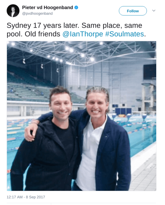 Olympic Legends Thorpe & Van Den Hoogenband Reunite In Sydney