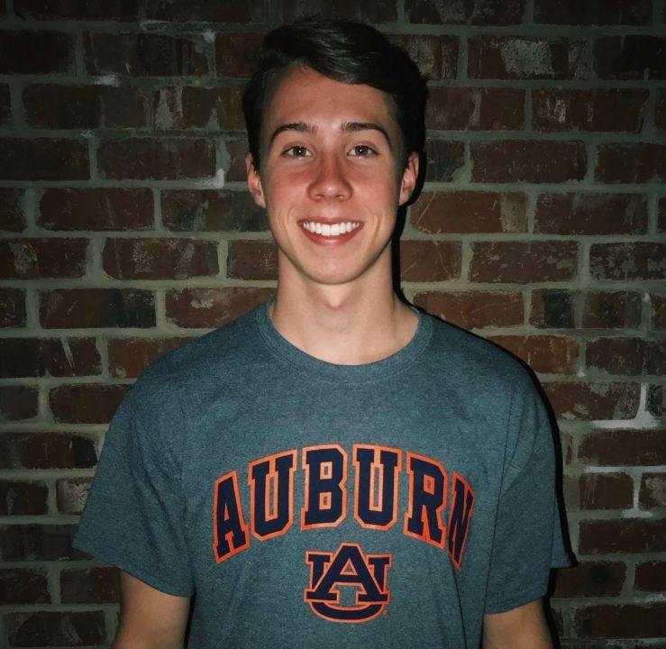 SwimMAC's Ryan Williams Announces Verbal Pledge to Auburn Tigers