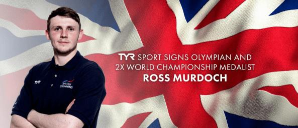 TYR Sport Signs Olympian & 2X World Championship Medalist Ross Murdoch