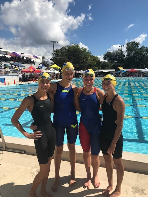 Greater Tampa Swim Association Breaks Florida 13-14 Medley Relay Mark