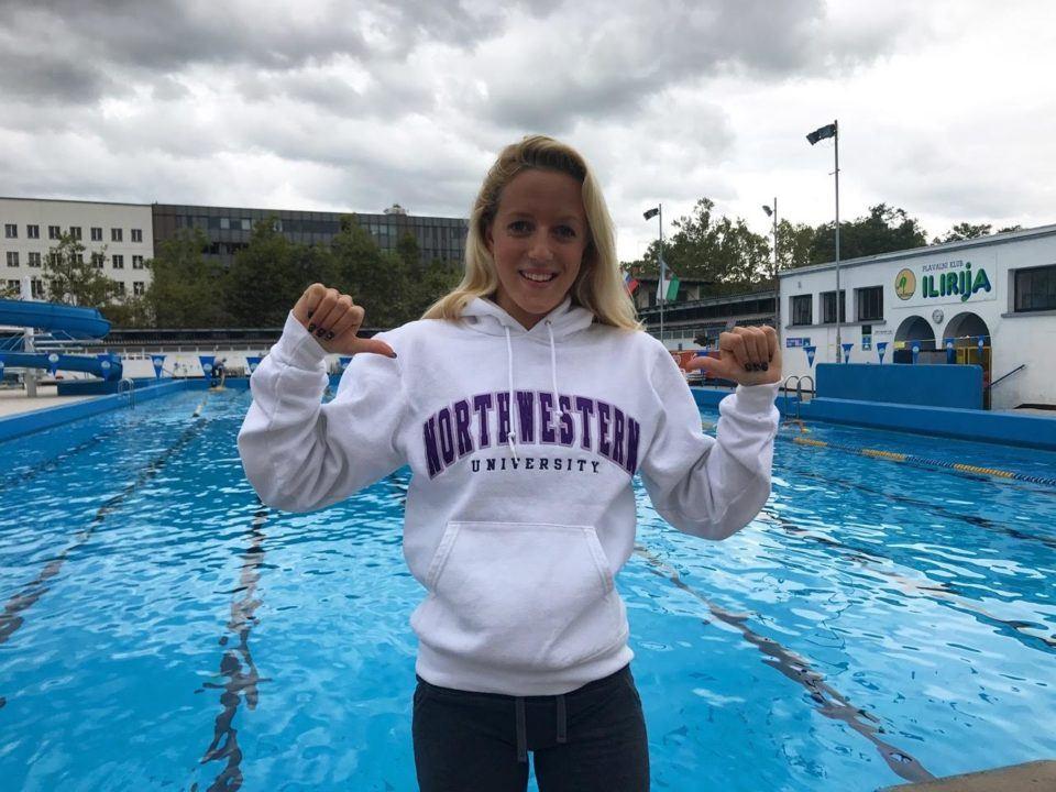 Slovenian Nat'l Junior Record-holder Tara Vovk Verbally Commits to Northwestern