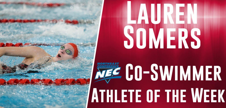 Sacred Heart's Lauren Somers Named NEC Co-Swimmer Of The Week