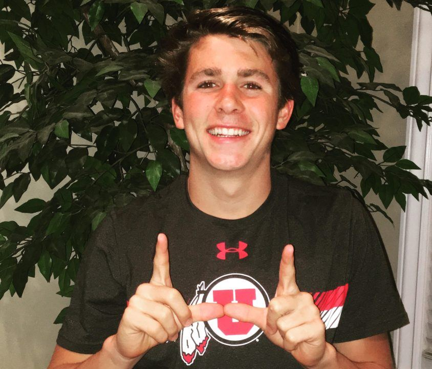 CIF 100 Breast State Champ Andrew Britton Verbals to Utah