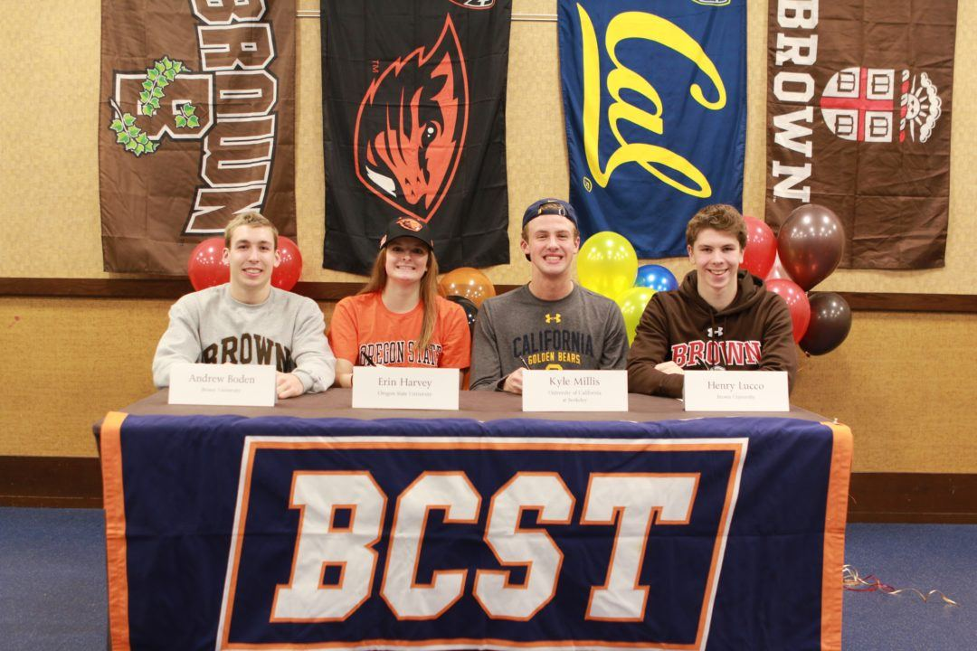 4 BCST Swimmers (Boden, Lucco, Millis, Harvey) Make Early Commitments