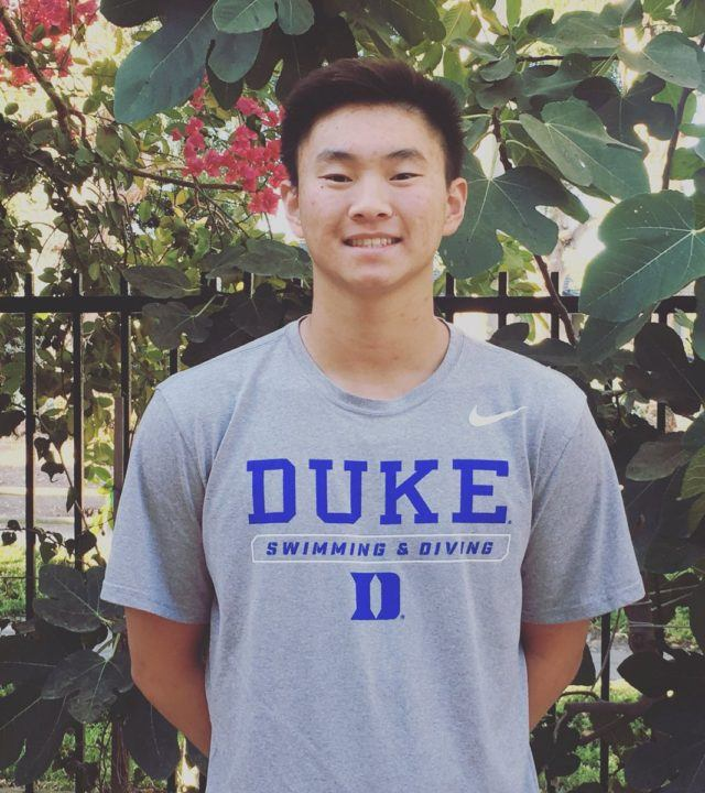 Irvine Novaquatics Breaststroker Henry Wu Commits to Duke