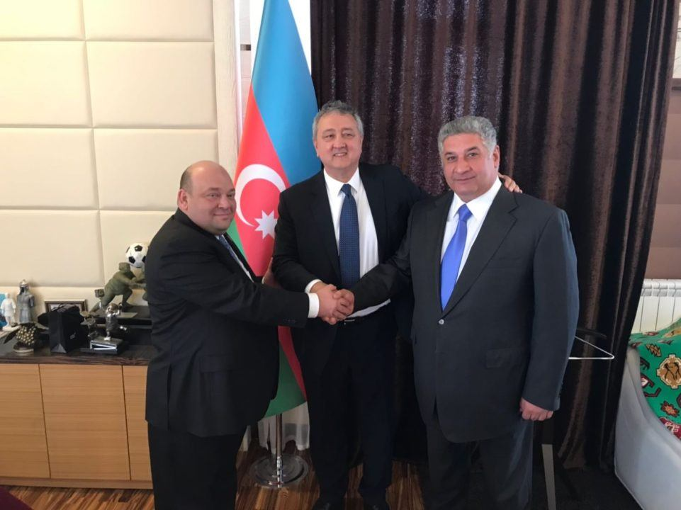LEN President Visits With Azerbaijan Sports Leaders