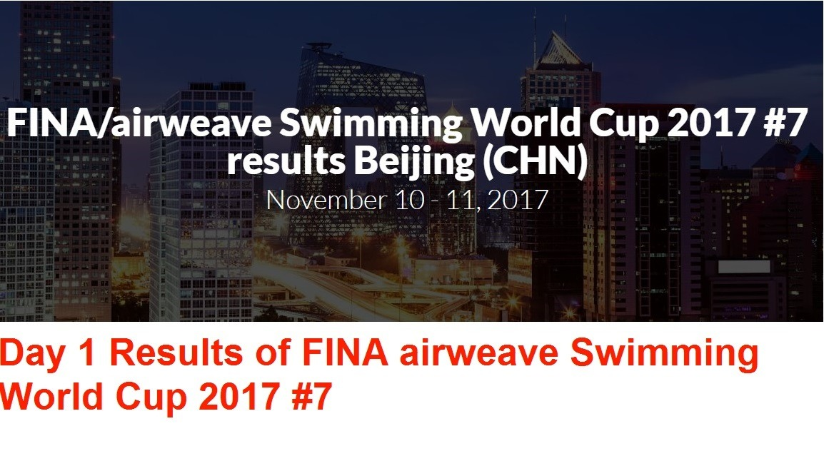 Day 1 Results of FINA Swimming World Cup 2017 #7 – Hindi
