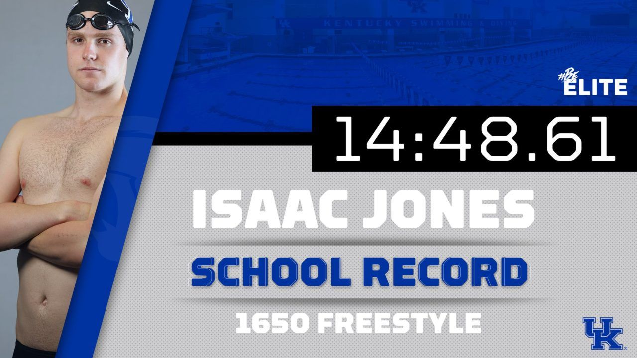 "Isaac Jones ""Wasn't Expecting"" 3 School Record Swims for Kentucky"