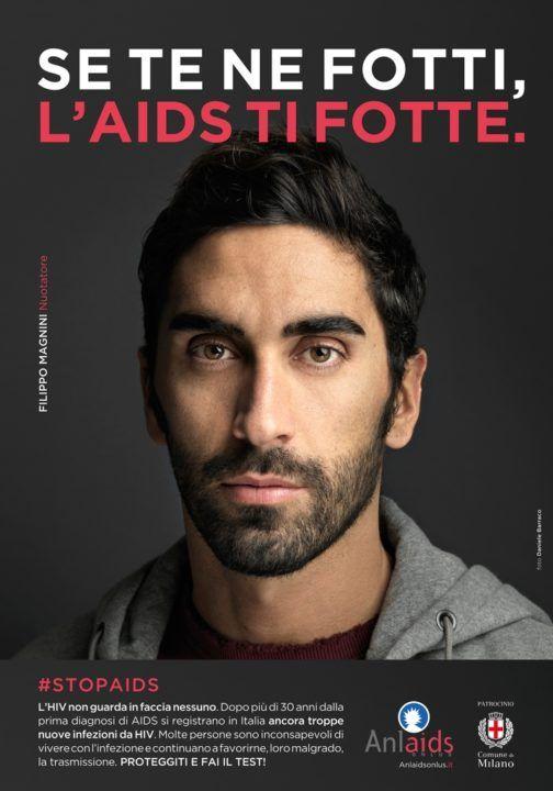 """FILIPPO MAGNINI contro l'AIDS: """"Se te ne fotti, l'AIDS ti fotte"""""""