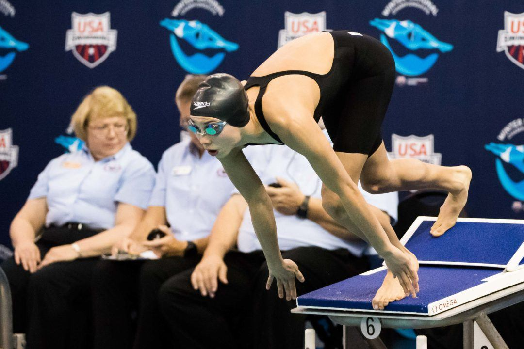 Torri Huske Swims Hits Near Lifetime Bests at DMV Showcase