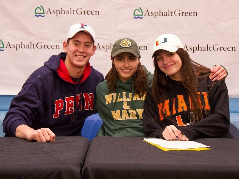 Trio of Asphalt Green Unified Aquatics Athletes Commit to D1 Programs