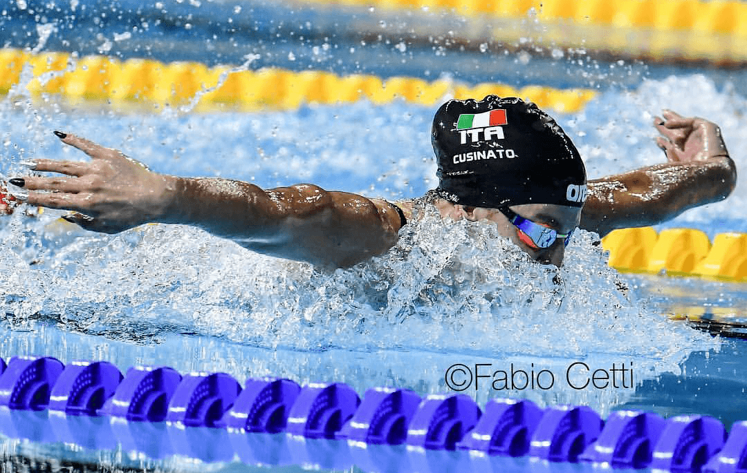 Italians Panziera, Cusinato Lower National Records In Rome