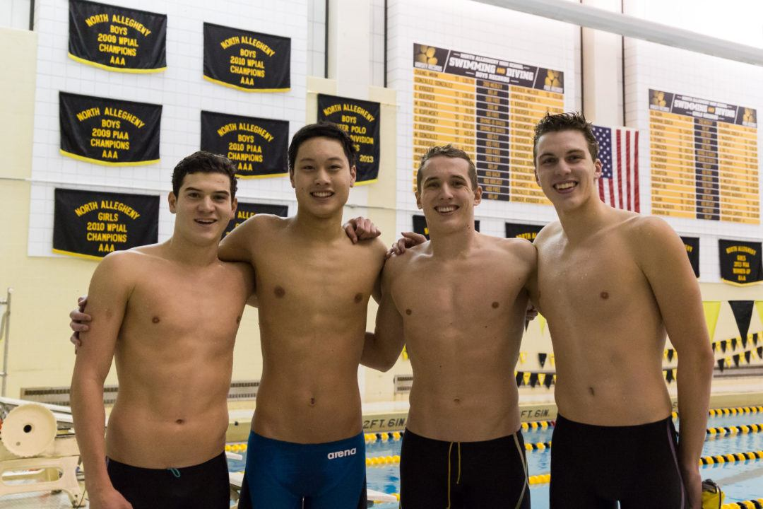 North Allegheny Boys Undercut 2 National HS Records in Dual Meet