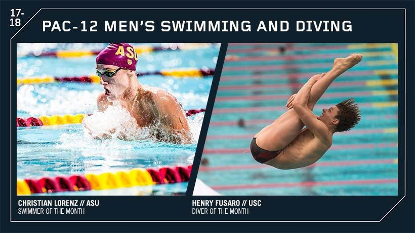 ASU's Christian Lorenz Named Men's Pac-12 Swimmer Of The Month