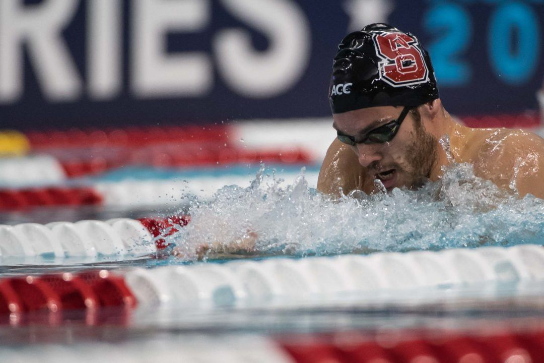 NC State's Andreas Vazaios Named ACC Men's Swimmer Of The Year