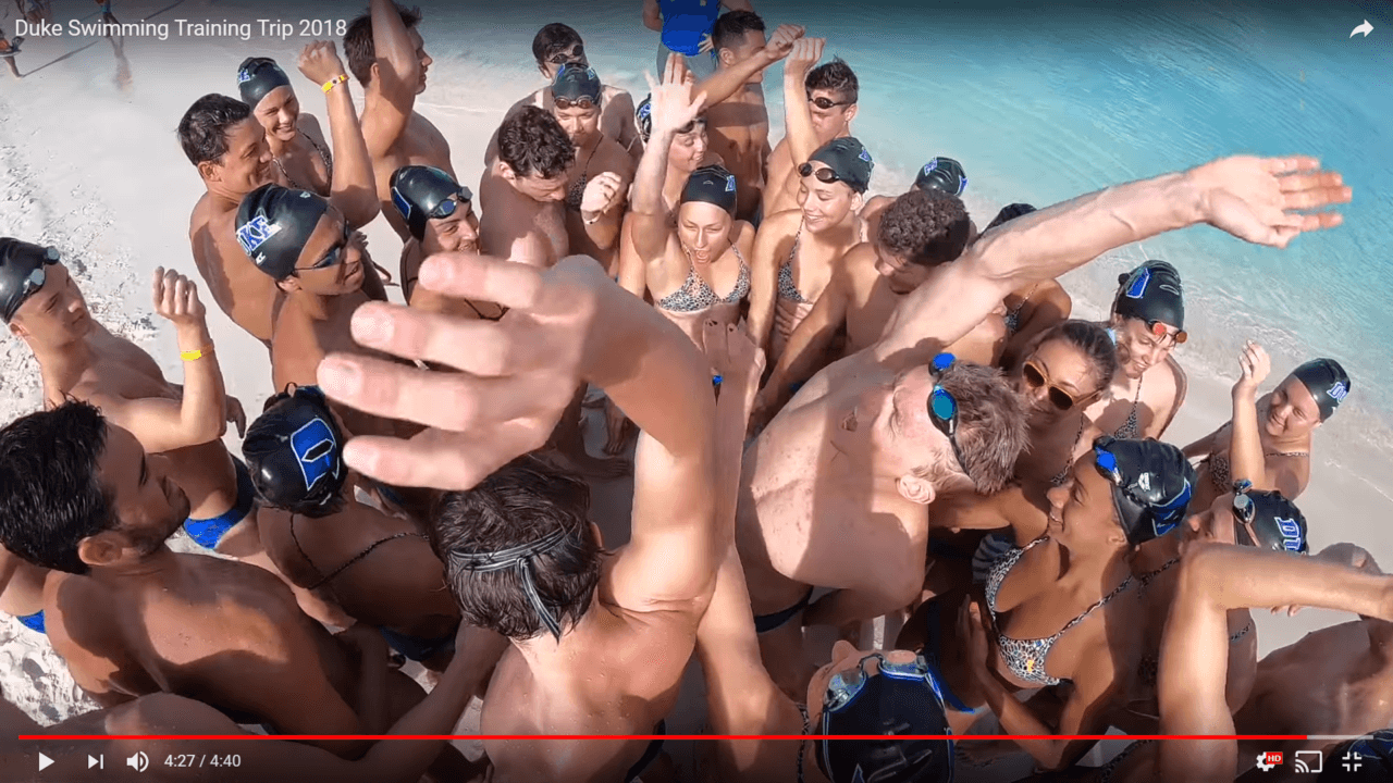 Duke Swimming Returns to Aruba for Winter Training 2018 (VIDEO)