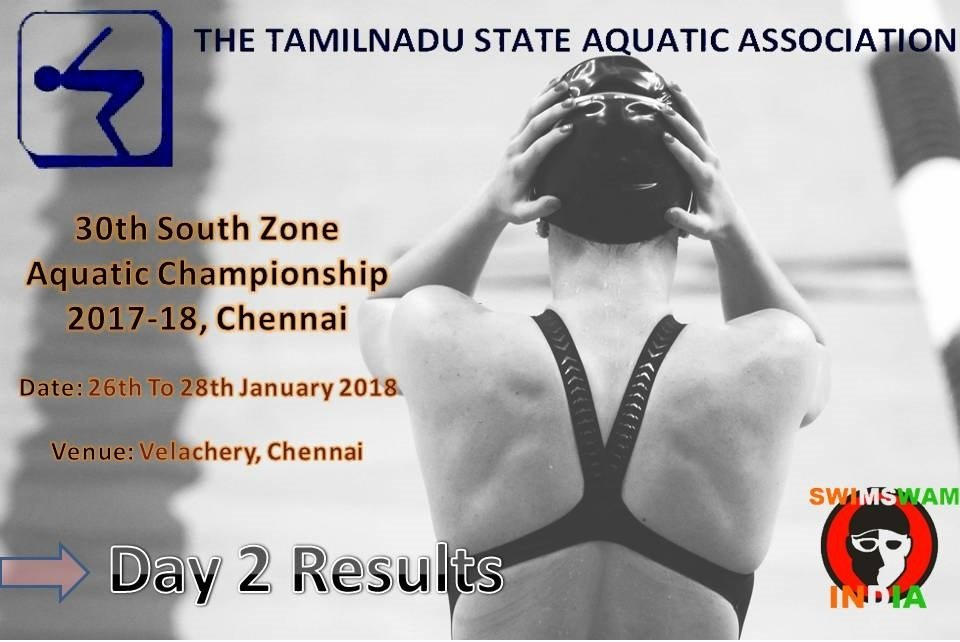 30th South Zone Aquatic Championship 2018 : Day 2 Results (Hindi)