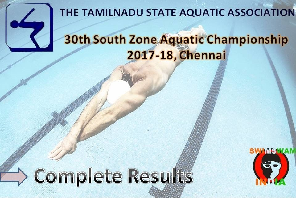 30th South Zone Aquatic Championship 2018:Complete Results (Hindi)