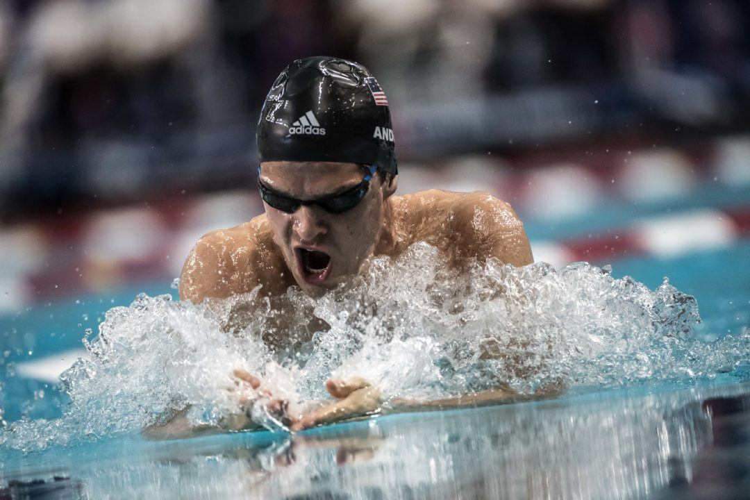 Michael Andrew Pops Best Times in 100 Fly, 100 Breast, Back-to-Back
