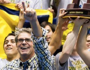 Michigan's Mike Bottom Talks Relay Win and B1G Friday Night Rally