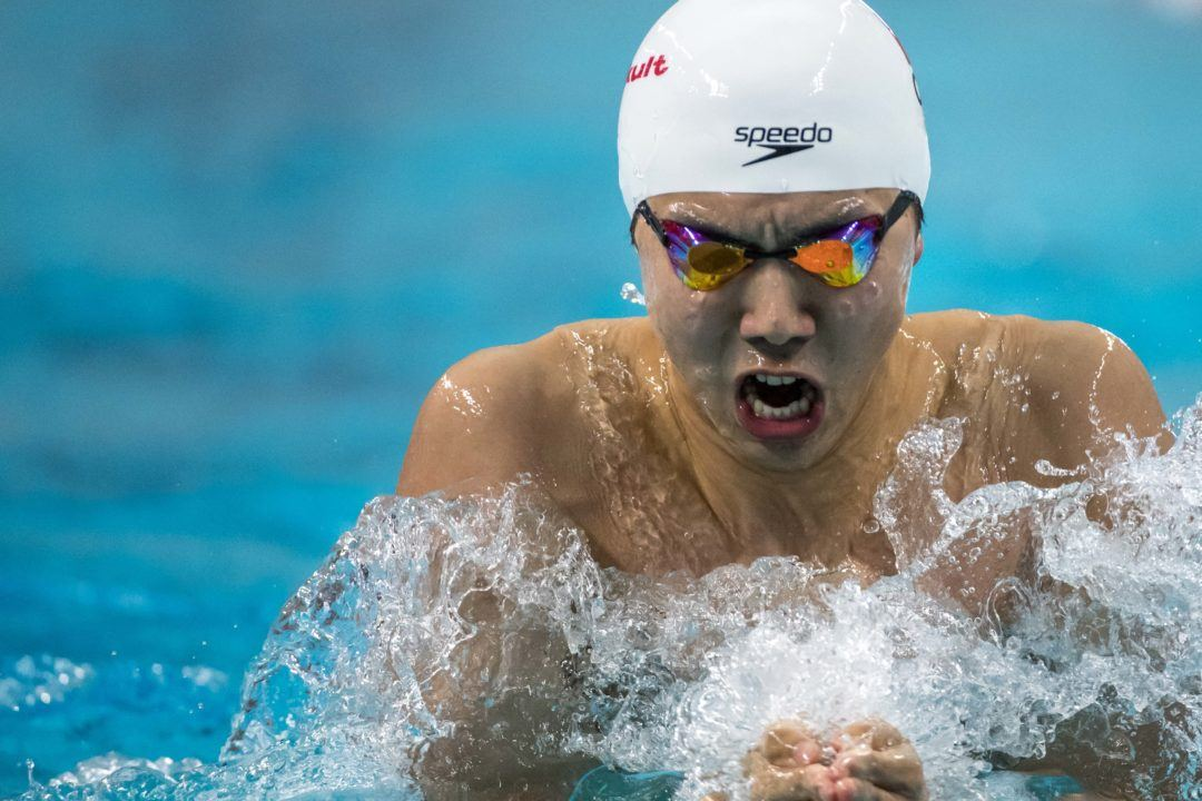 Yan Zibei Clocks Chinese Record In 50 Breast At Nats