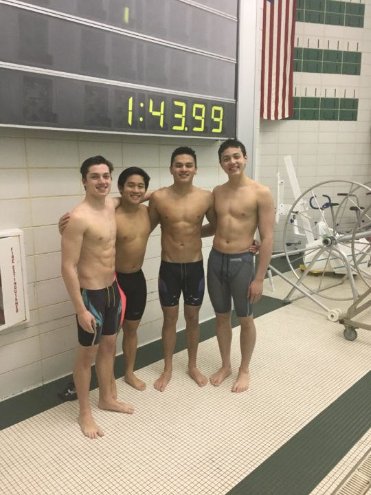 Mainland Boys Lower SCM National HS Records In 200 Free & Medley Relay