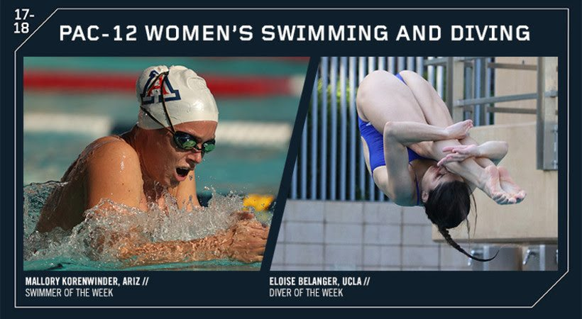 Arizona & UCLA Earn Weekly Pac-12 Women's Honors