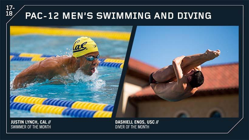 Cal's Justin Lynch Named Pac-12 Men's Swimmer Of The Month