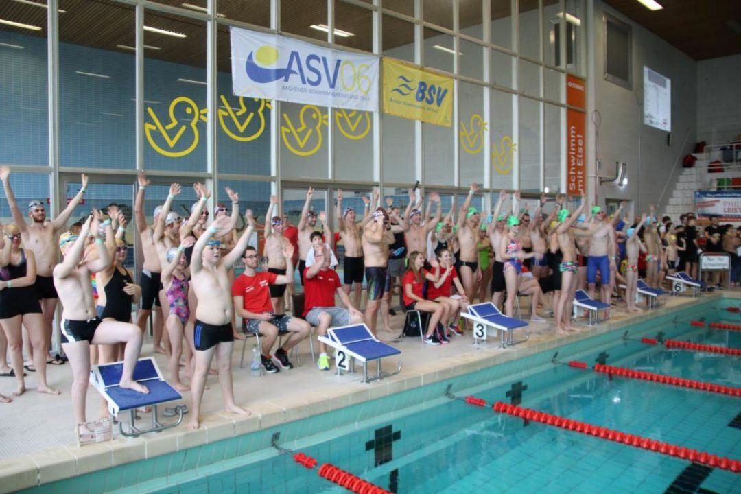 3. Aachener 24h Schwimmen mit 370 Schwimmern und über 3200 Kilometern