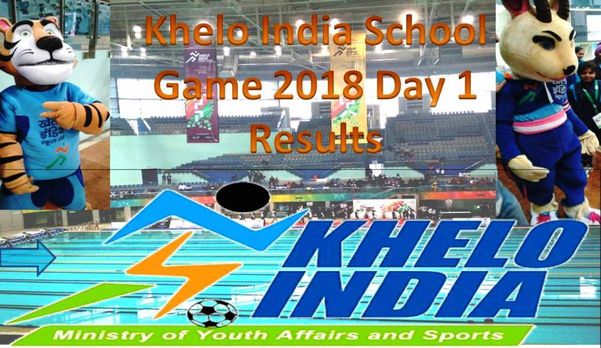 1st Khelo India School Game 2018: Day 1 Results (Hindi)