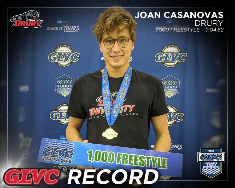Joan Casanovas Breaks 3rd Meet Record on Day 3 GLVC Championships