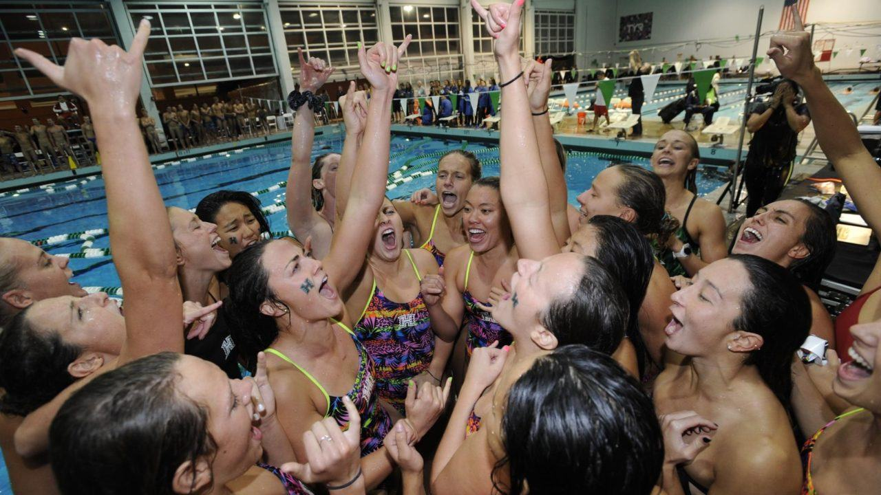 Phoebe Hines Swims Top-10 Mile as Hawaii Women Win MPSF Again