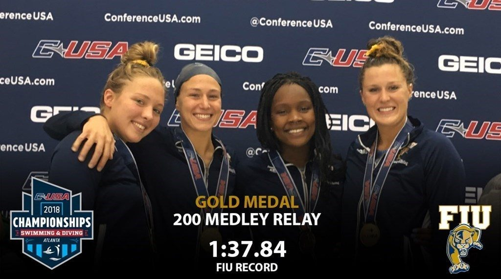 FIU Wins 2 Events, Breaks 2 School Records on Day 1 of CUSA Champs