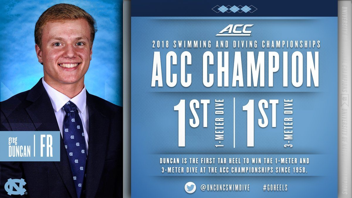 Duke Takes Early Lead After Diving Portion of 2018 Men's ACC Meet