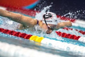 Hali Flickinger Started Doing 200/300's Fly in Practice (Video)
