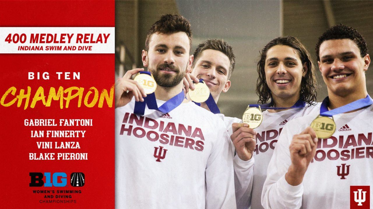Indiana Men Break Big Ten Record, 5th-Fastest Ever 400 Medley