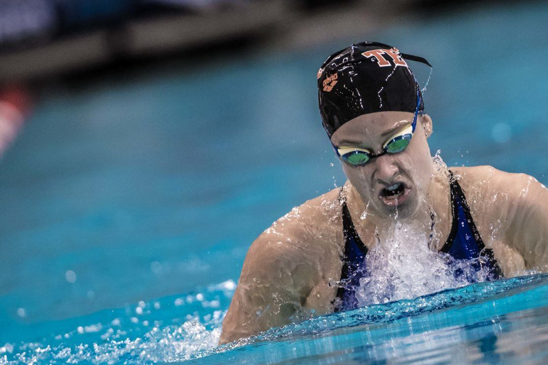 Madisyn Cox Entered in First Meet Since March at Austin Sectionals