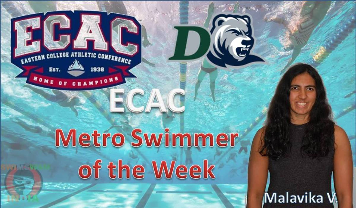 Malavika V. Ko Mila Metro Swimmer of the Week Ka Honor