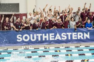 Texas A&M Women Celebrate SEC Title in Home Pool (Video)