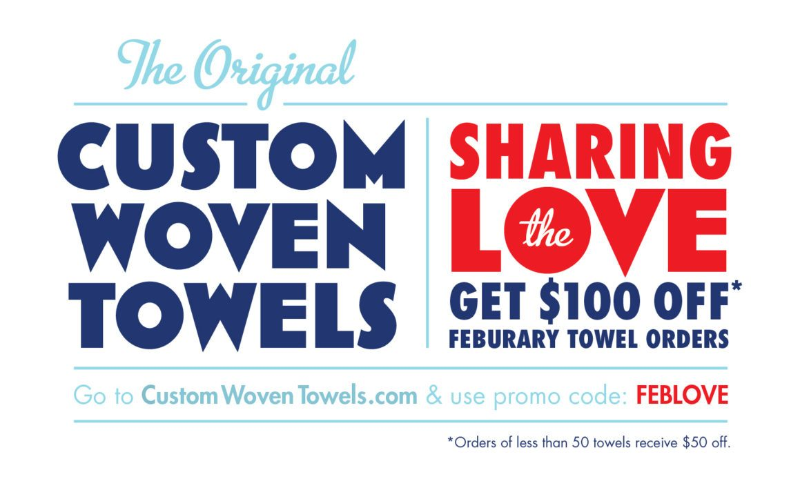 Sharing The Love (Of Custom Woven Towels)