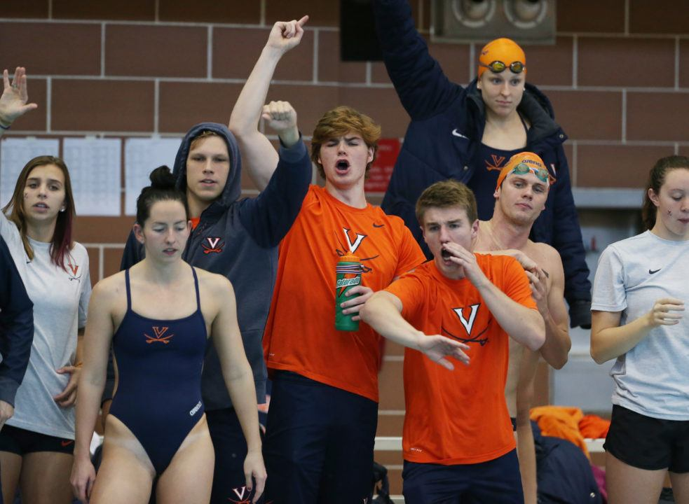 Auburn Women, Virginia Men Win Fast Dual Meet with Random Event Order