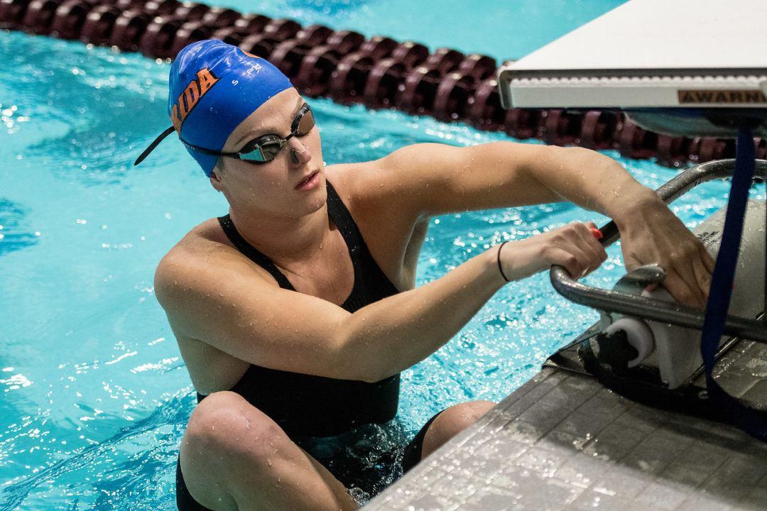 Emma Ball Blasts 23.9 Backstroke Split as Florida Sweeps Tennessee