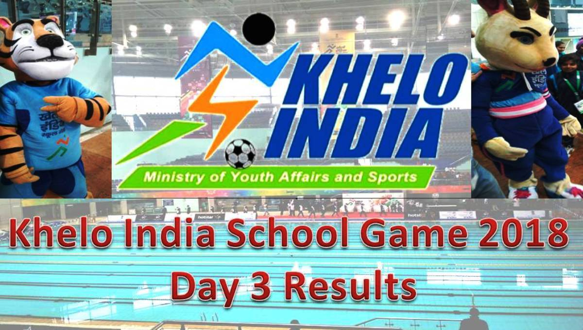 1st Khelo India School Game 2018: Day 3 Results (Hindi)