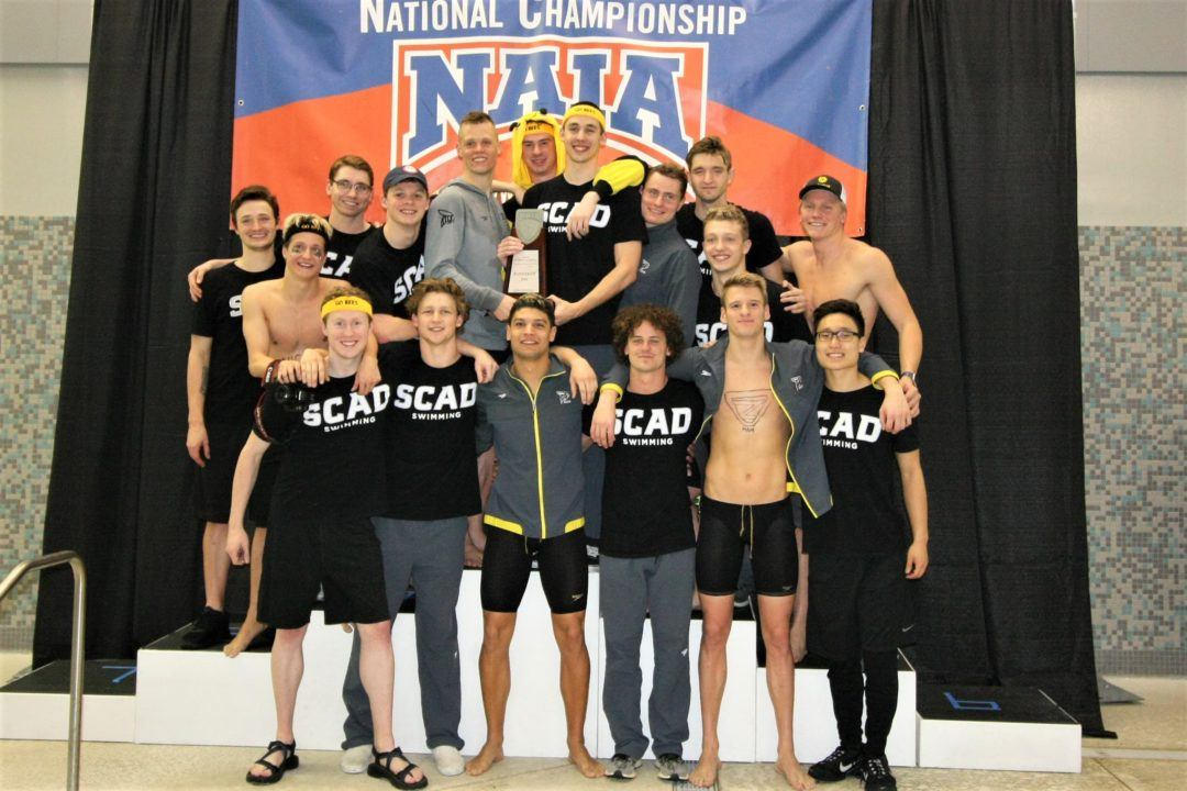 2020 NAIA Men's Nationals Day 1: SCAD Crushes 800 Free Relay Meet Record