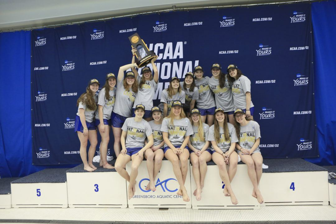 Queens 400 Medley Relay Takes Down NCAA D2 Record on Day 2 of BMCs