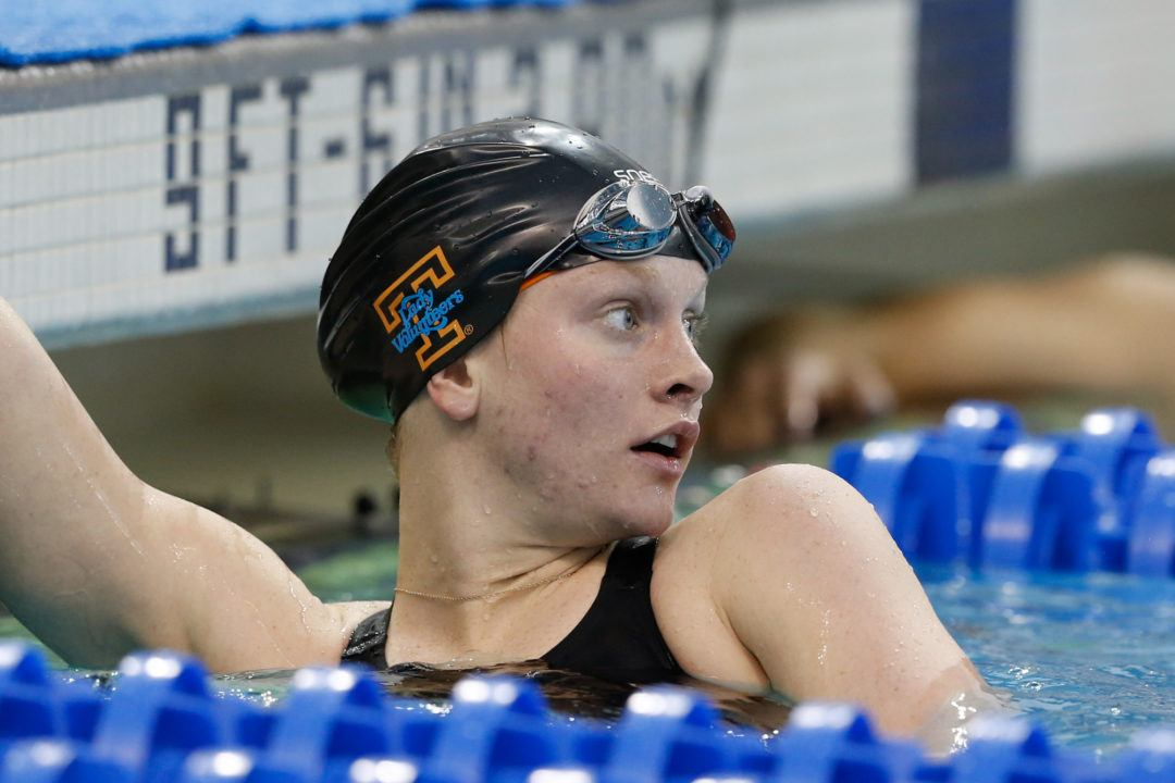 Erika Brown Breaks NCAA Record With 21.15 50 Free