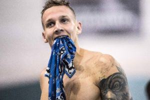 Swimmer Caeleb Dressel by Mike Lewis